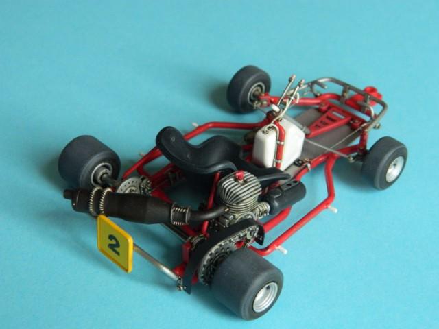 Kart  A. SENNA Bercy 93. Fujimi 1/20ème. fini. Zx51mj