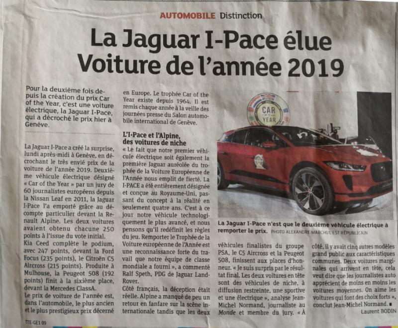 I-PACE voiture de l'année 2019 3nle44